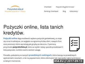 Zrzut strony Pożyczki online