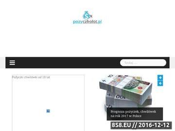 Zrzut strony Pożyczki gotówkowe przez Internet
