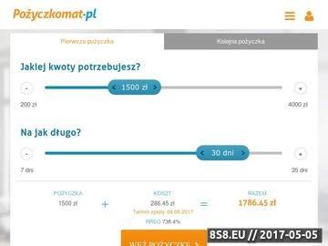 Zrzut strony Pozyczkomat.pl - pożyczyka chwilówka online