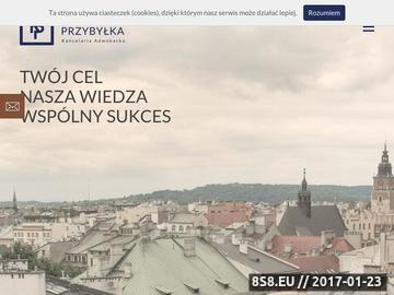 Zrzut strony Kancelaria adwokacka Kraków