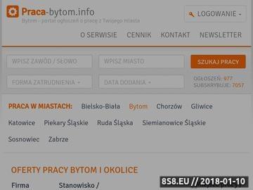 Zrzut strony Oferty pracy Bytom