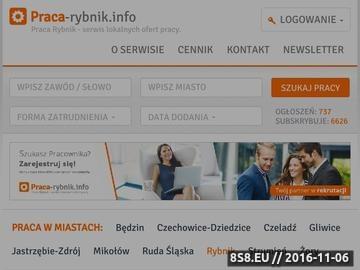 Zrzut strony Rybnik praca - portal regionalny
