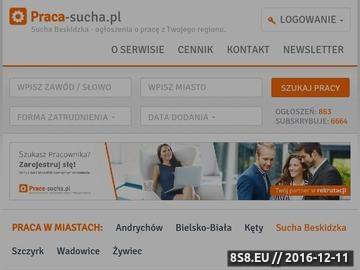 Zrzut strony Portal praca - Sucha Beskidzka