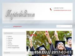 Miniaturka domeny www.pracadyplomowa.com.pl