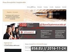 Miniaturka domeny www.prace-licencjackie.edu.pl