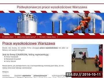 Zrzut strony Prace wysokościowe Warszawa