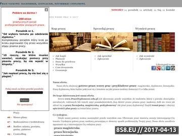 Zrzut strony Serwis gotowych prac licencjackich i magisterskich
