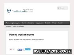 Miniaturka domeny pracelicencjackie.com.pl