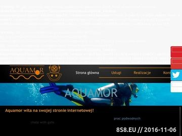 Zrzut strony Aquamor sp. z o.o. prace hydrotechniczne Trójmiasto
