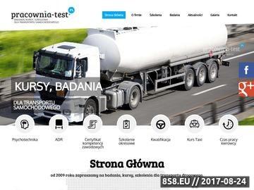 Zrzut strony Psychotechnika Warszawa - pracownia TEST S.C. - szkolenia