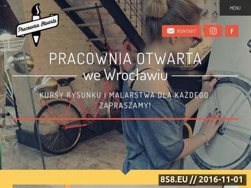 Zrzut strony Szkoła rysunku i kursy plastyczne dla miasta Wrocław tanio