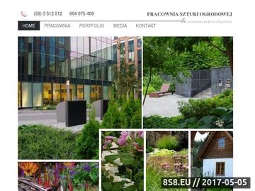 Zrzut strony Pracownia sztuki ogrodowej - zakładanie ogrodów