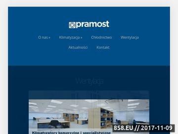 Zrzut strony Serwis chłodniczo klimatyzacyjny Pramost