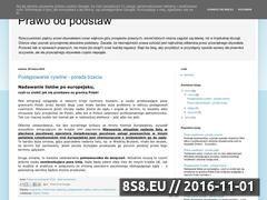 Miniaturka domeny prawoodpodstaw.blogspot.com