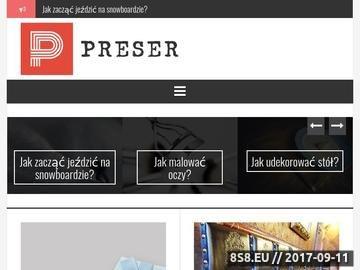 Zrzut strony Infografiki - Preser.pl