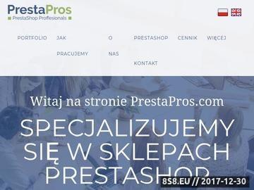 Zrzut strony PrestaPros - Wdrożenia Presta Shop