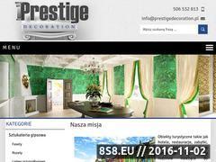 Miniaturka domeny prestigedecoration.pl