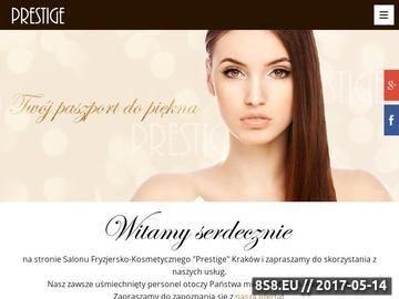Zrzut strony Prestige - salon kosmetyczny Kraków - fryzjer, kosmetyka