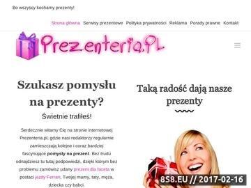 Zrzut strony Prezenteria - opisujemy prezenty