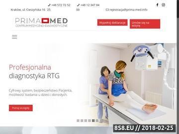 Zrzut strony Przychodnia zdrowia - Centrum Medyczne Prima-Med Kraków