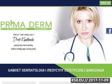 Zrzut strony Dermatologia Warszawa