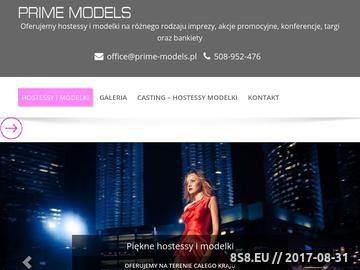Zrzut strony Agencja Modelek PRIME Warszawa, Kraków, Poznań, Gdańsk, Wrocław, Katowice, Łódź