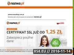 Miniaturka domeny www.primeconsulting.com.pl