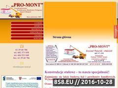 Miniaturka domeny www.pro-mont.pl