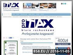 Miniaturka domeny www.pro-tax.pl