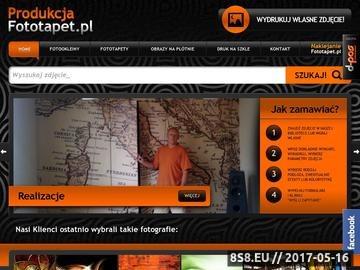 Zrzut strony Fototapeta na zamówienie