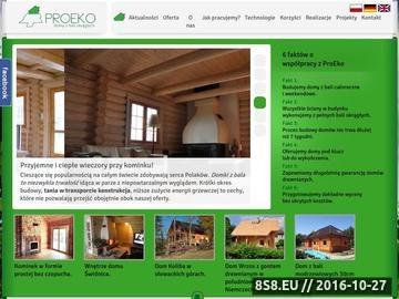 Zrzut strony Domy z drewna - cena za projekt i realizację