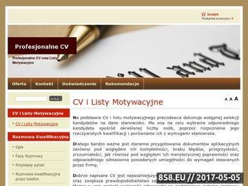 Zrzut strony Pisanie CV i listów motywacyjnych- Profesjonalne CV po angielsku i niemiecku