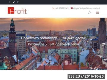 Zrzut strony Usługie księgowe we Wrocławiu oraz Warszawie