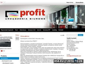 Zrzut strony Profit - urządzenia biurowe, kopiarki, kserokopiarki, serwis