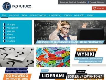 Zrzut strony Profesjonalna prywatna szkoła podstawowa Warszawa
