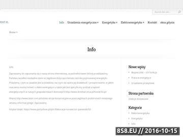 Zrzut strony Dotacje w ramach programu Prosument