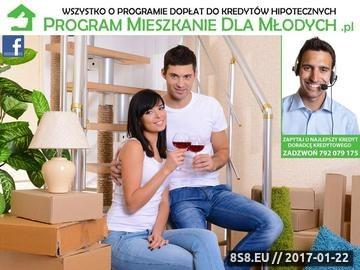 Zrzut strony Serwis finansowy poświęcony programowi Mieszkanie dla Młodych