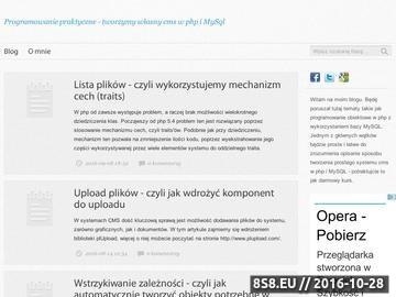Zrzut strony Nauka programowania w PHP i MySQL - piszemy własny CMS
