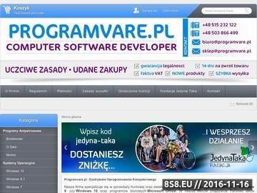 Zrzut strony Oprogramowanie