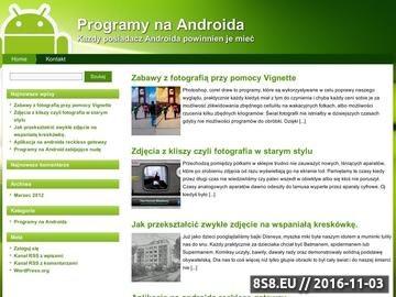 Zrzut strony Programy na Androida