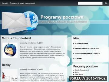 Zrzut strony Programy pocztowe