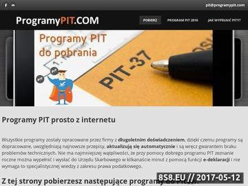 Zrzut strony Programy PIT