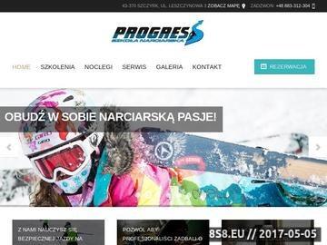 Zrzut strony Szkoła narciarska Szczyrk