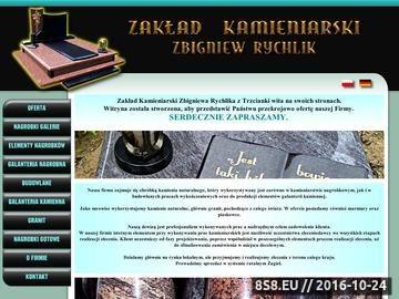 Zrzut strony Nagrobki i Kamieniarstwo. Z.Rychlik Trzcianka, Poznań, Piła.