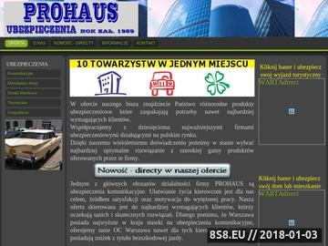 Zrzut strony Ubezpieczenia Warszawa