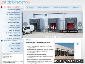 Zrzut strony Proinvest - mostki sprężynowe