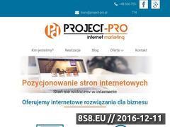 Miniaturka domeny www.project-pro.pl