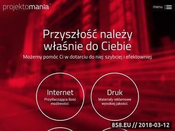 Zrzut strony Projektomania.pl - Kreatywna agencja interaktywna