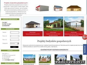 Zrzut strony Projekty budynków gospodarczych