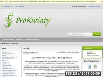 Zrzut strony Kraków - kwiaty